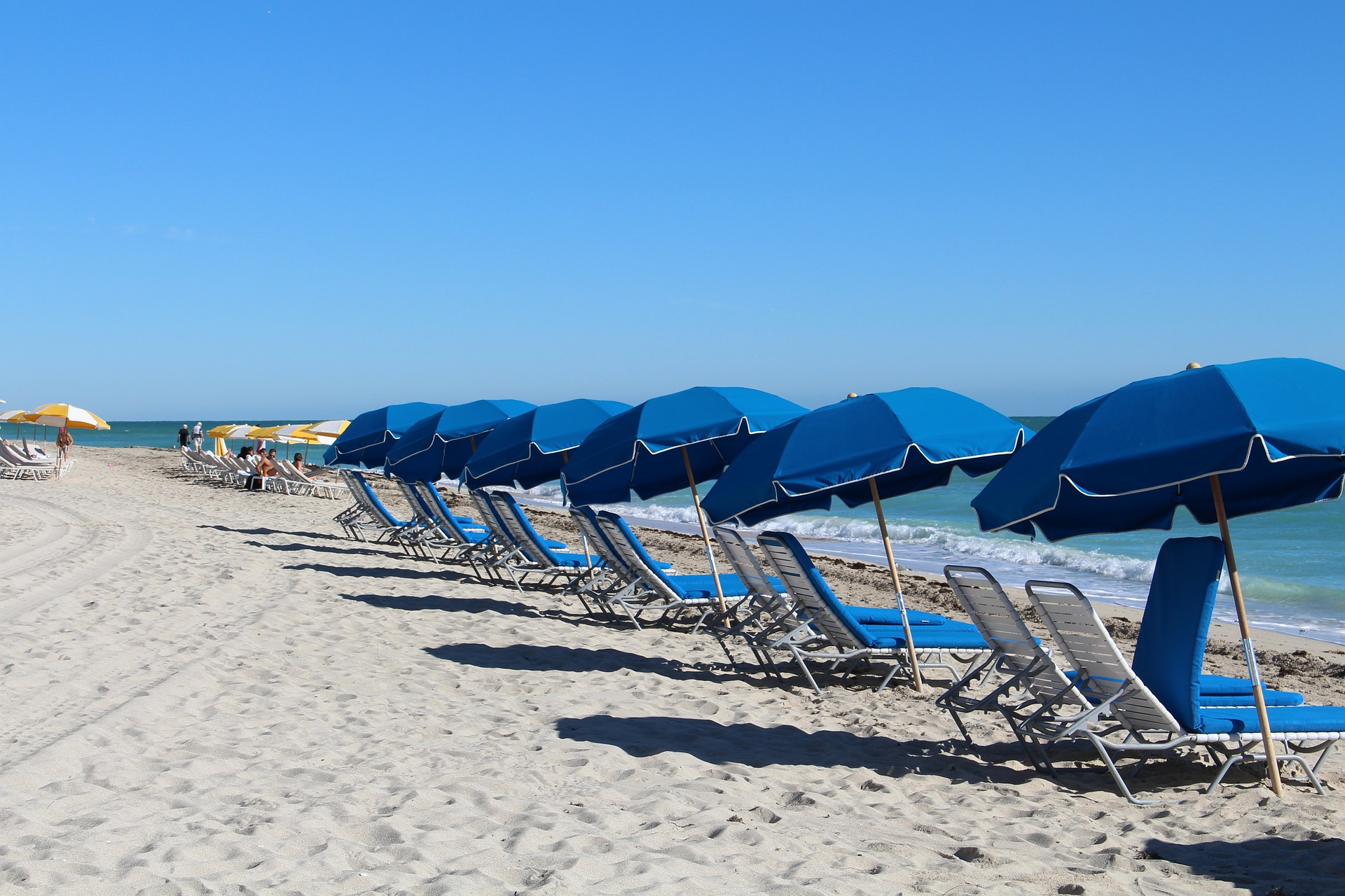 Umbrellas and Chairs on the Beach